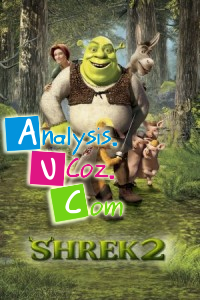 an analysis of shrek 2 Within shrek 2 there are many elements that correspond to the fact that it is intended for a children's audience, but made so that adults can enjoy and give rave reviews the primary intention is to entertain.